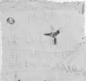 Maggie writes about the waterfall
